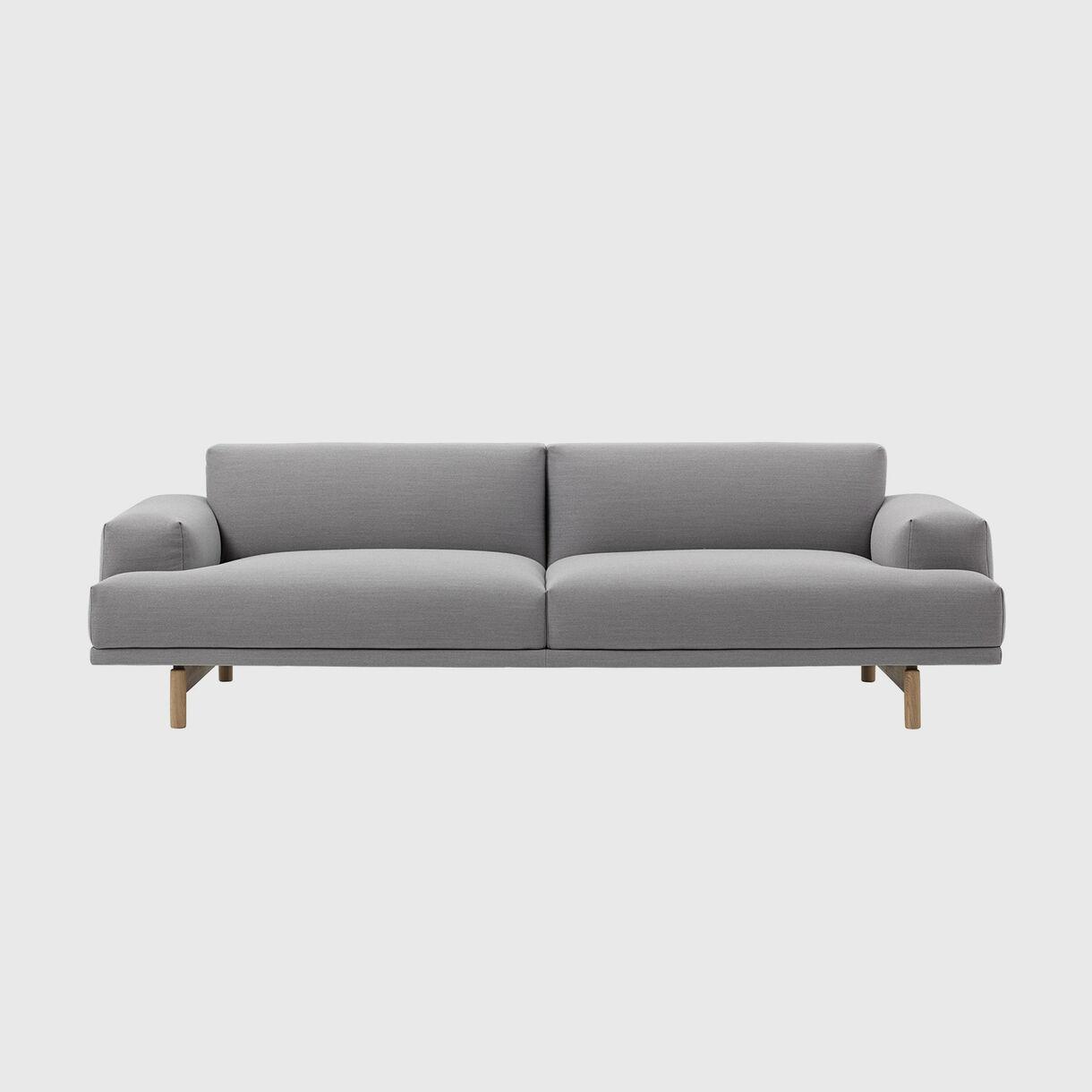 Compose Sofa, 3 Seater, Steelcut Trio 133