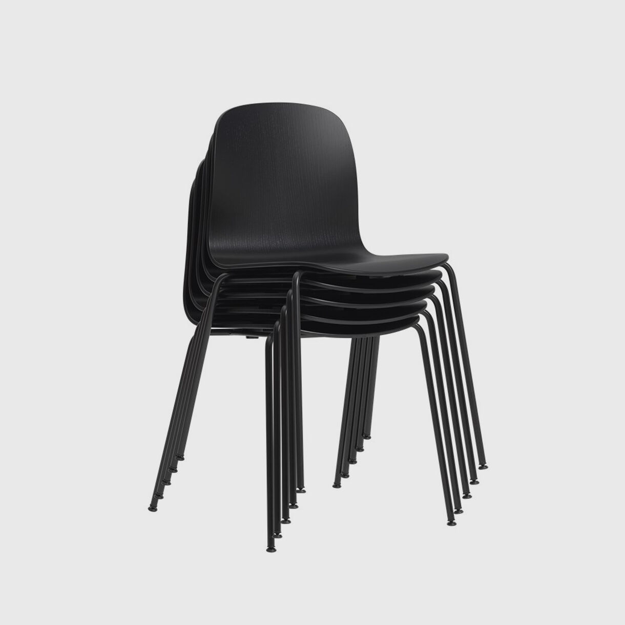 Visu Chair Tube Base, Black