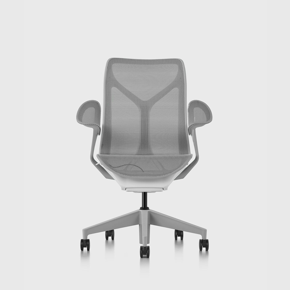 Cosm Chair, Mineral - Mid Back - Leaf Arms