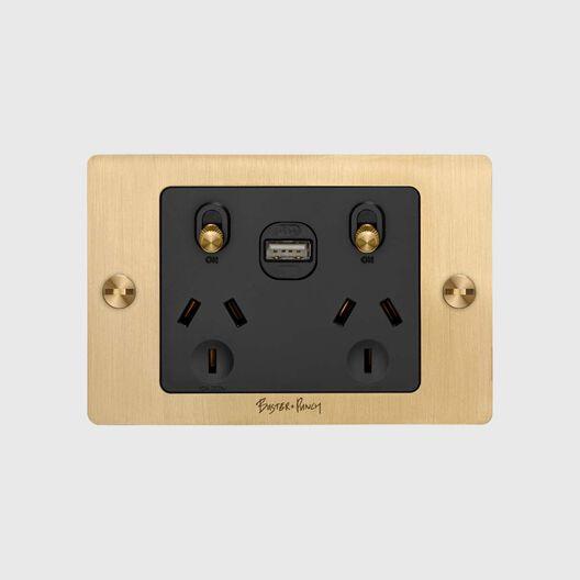 2G GPO + USB Socket