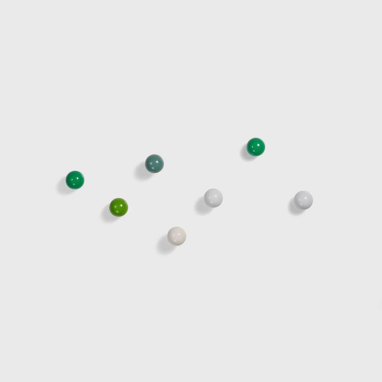 Coat Dots, White & Green, Group