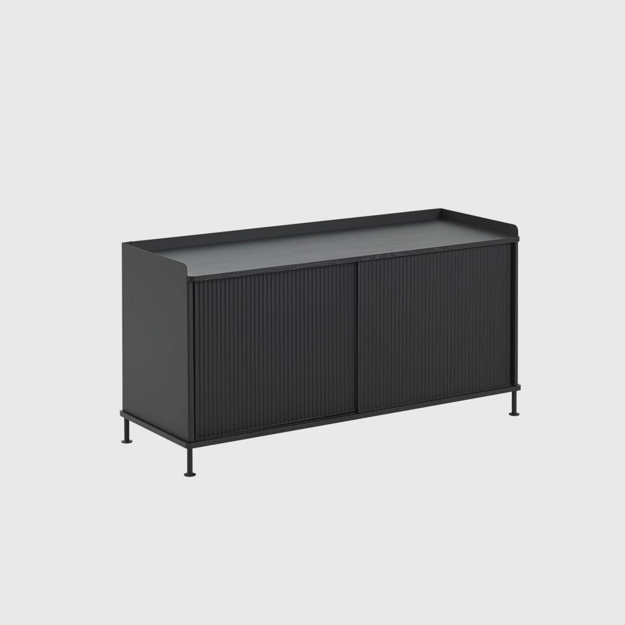 Enfold Sideboard Low, Black, Side