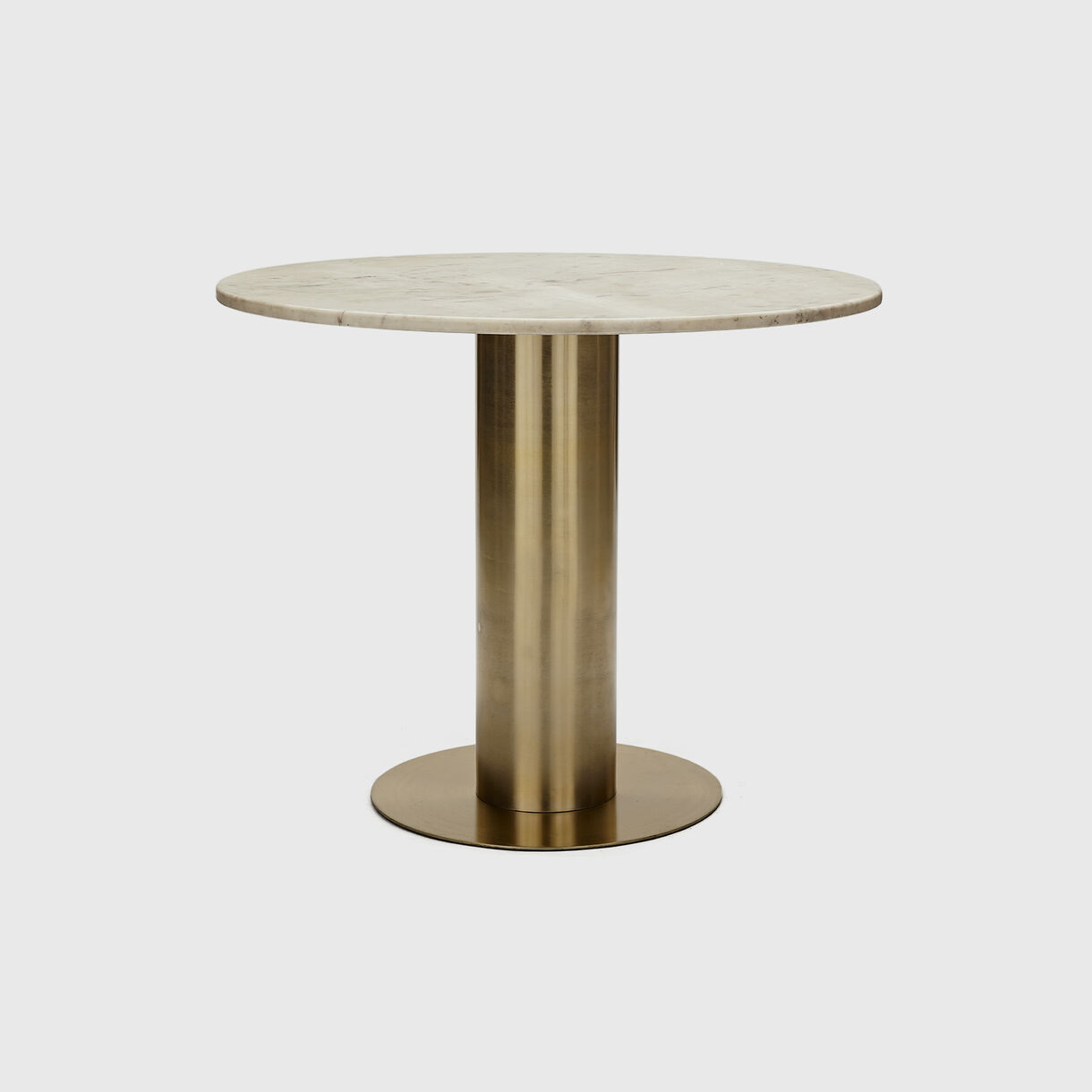 Tube Dining Table, 900, Brass