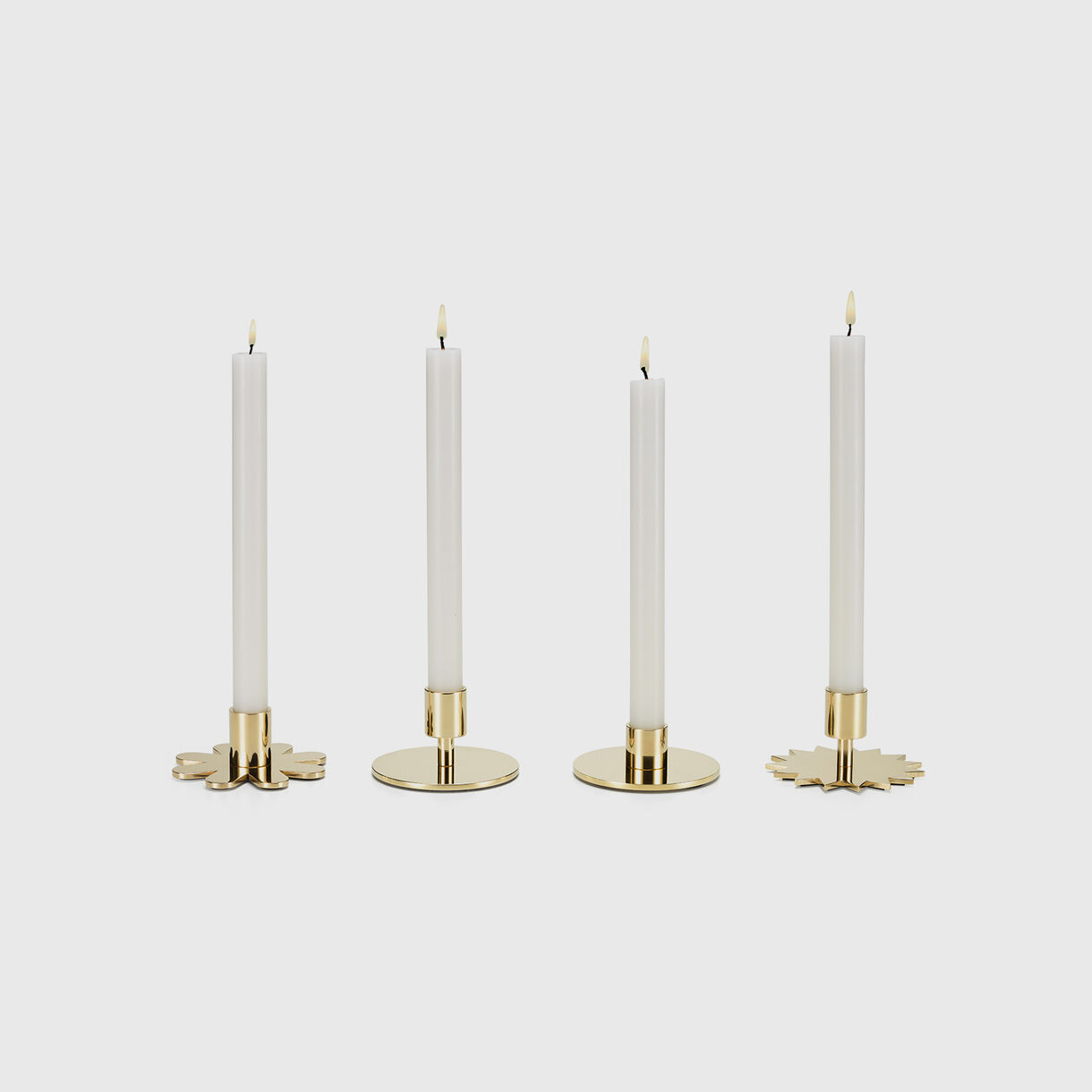 Girard Brass Candle Holders, Group