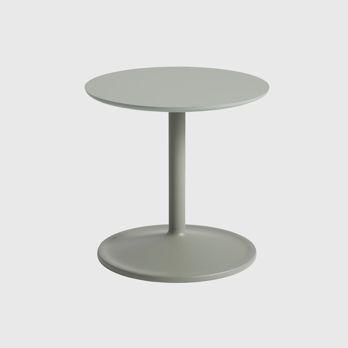 Soft Side Table, 41 x 40, Dusty Green