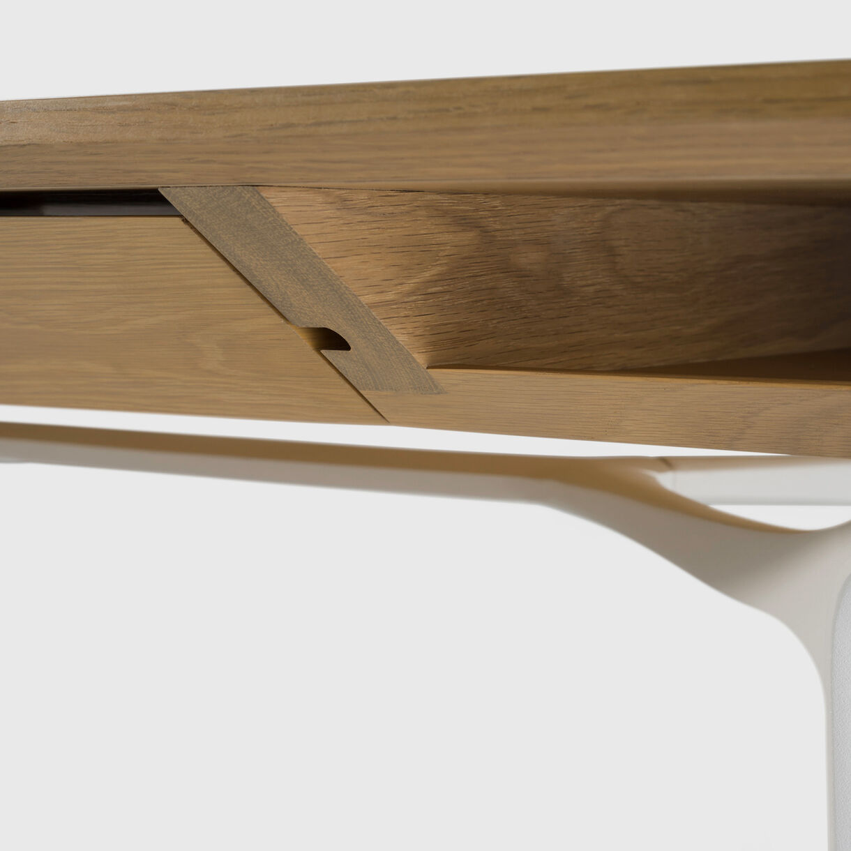 Carafe Table, White Oak & White