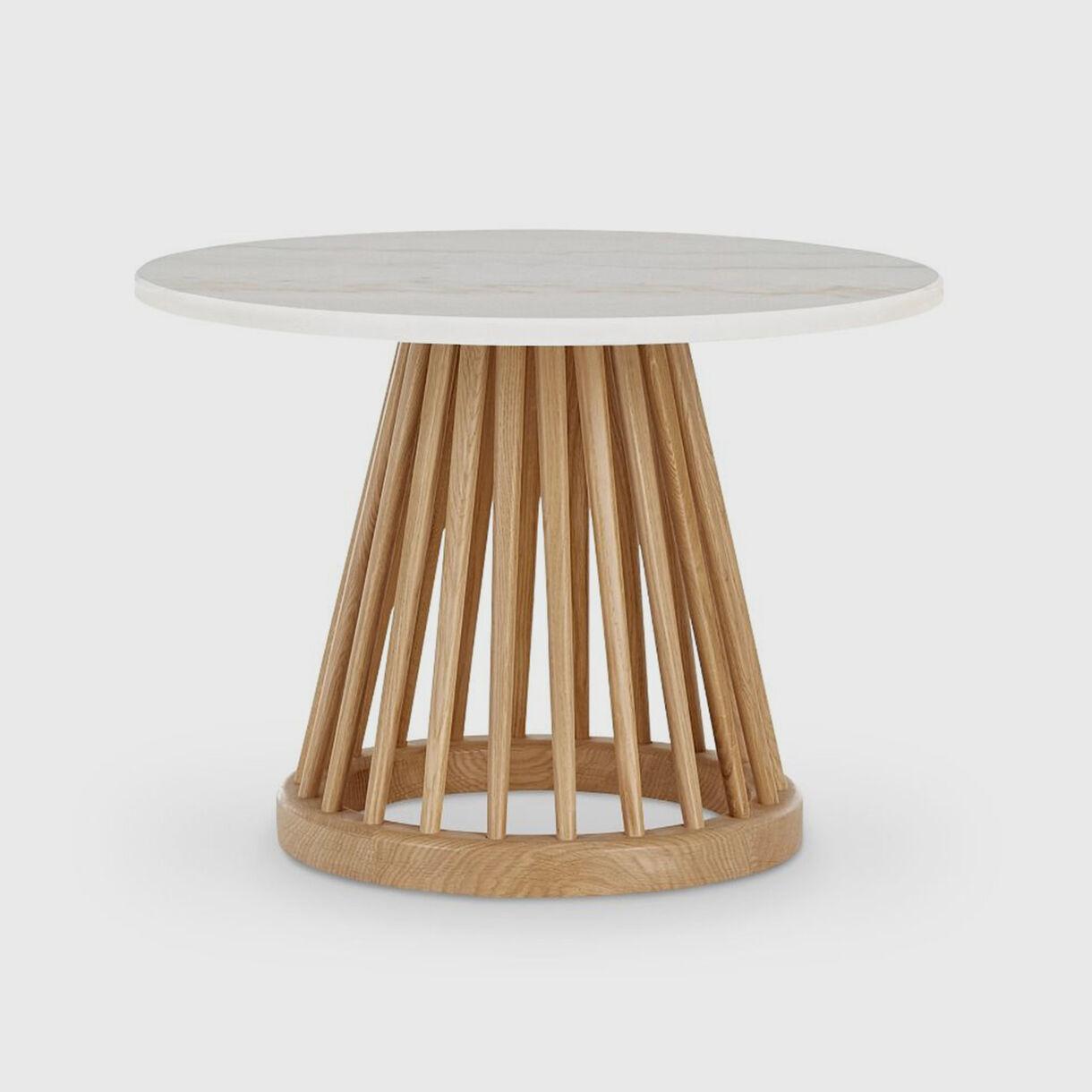 Fan Table, Natural Oak