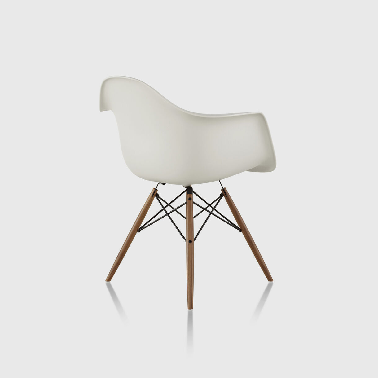 Eames Moulded Plastic Armchair Wood, White, Natural Maple