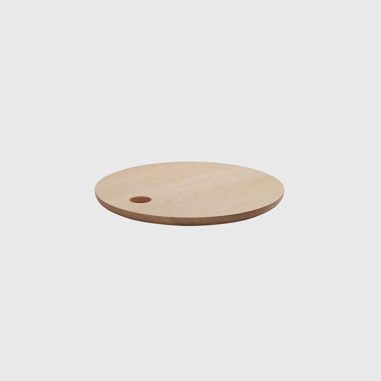 Cut Cutting Board, Round, Oak