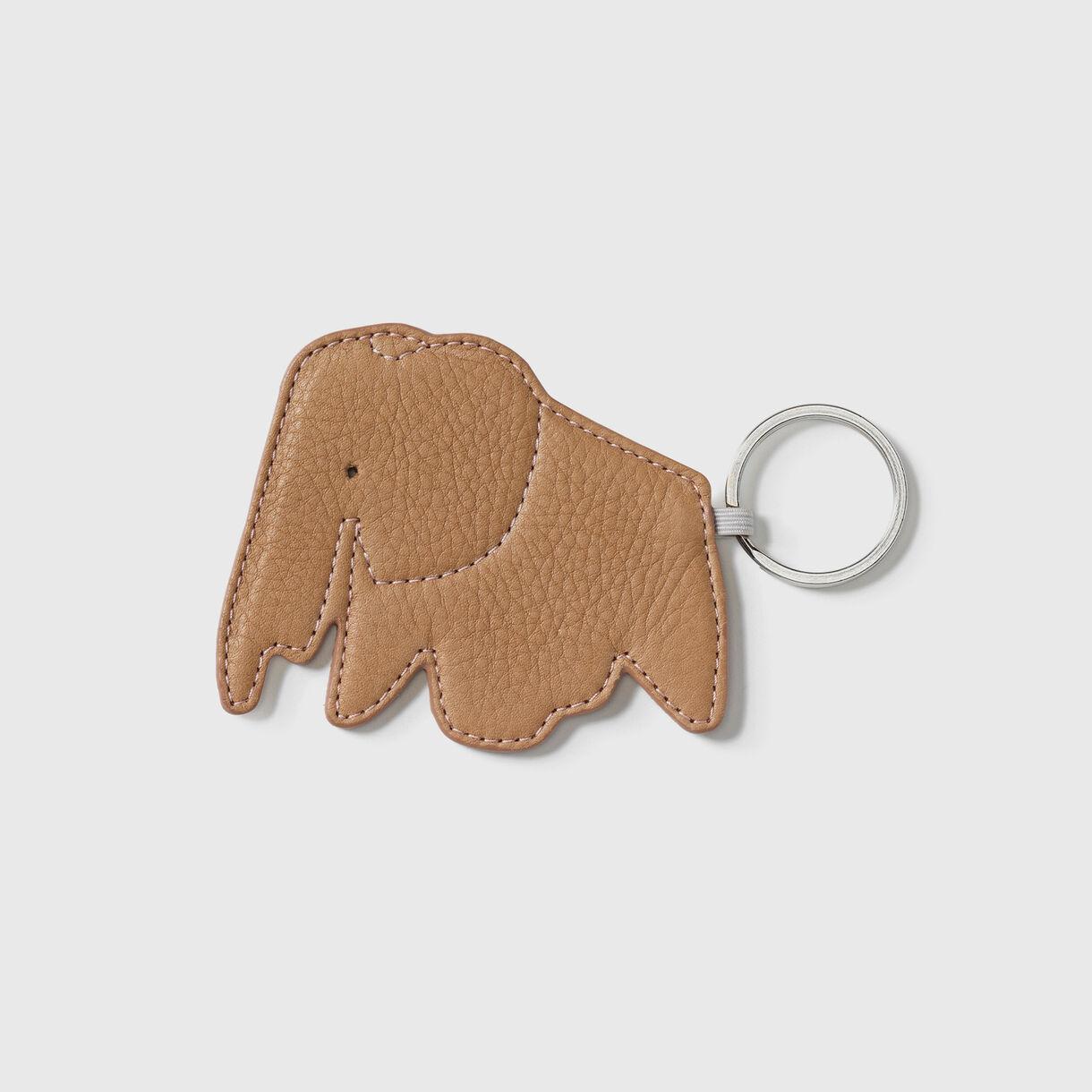 Elephant Key Ring, Natural