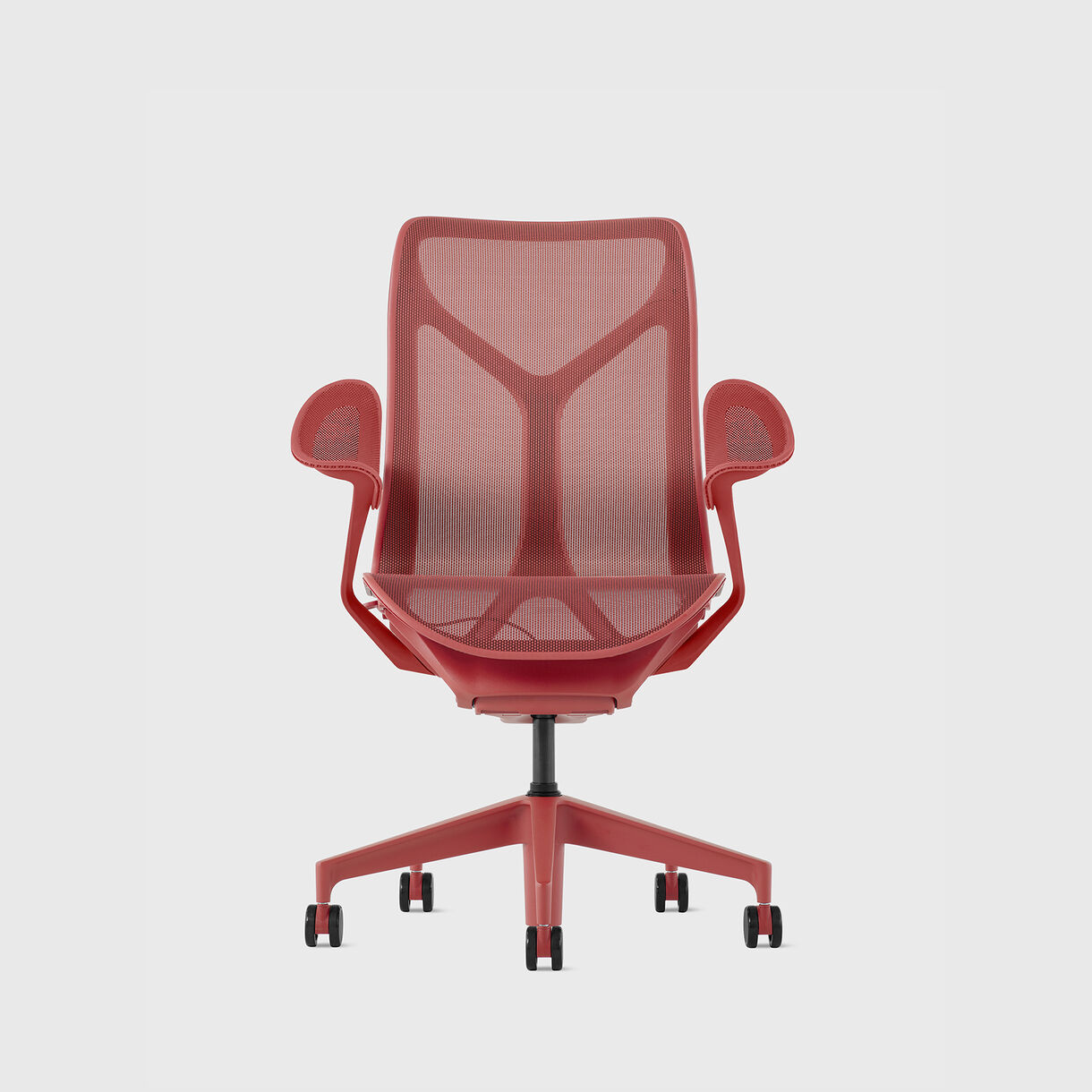 Cosm Chair, Canyon - Mid Back - Leaf Arms