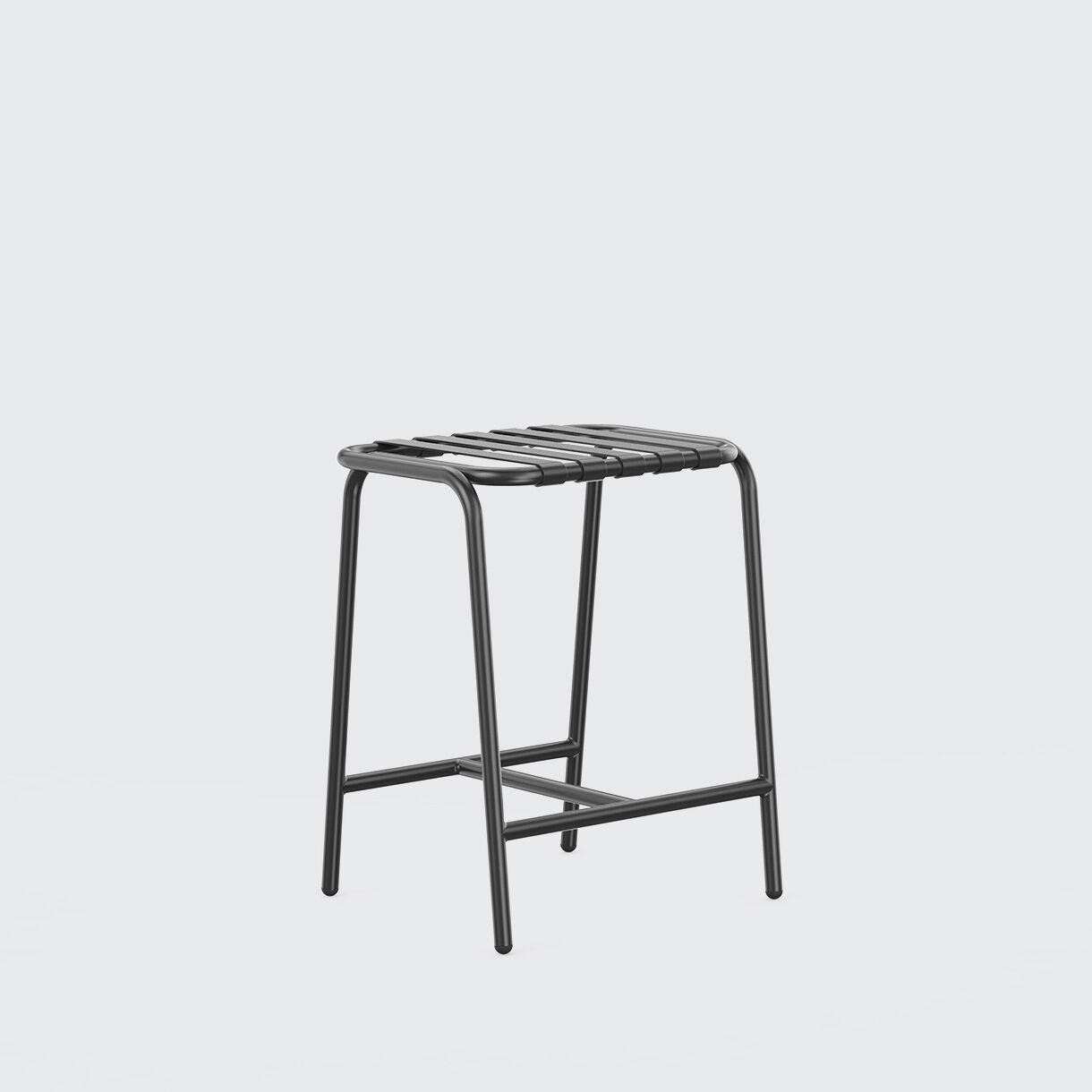 Strap Stool, 650, Black