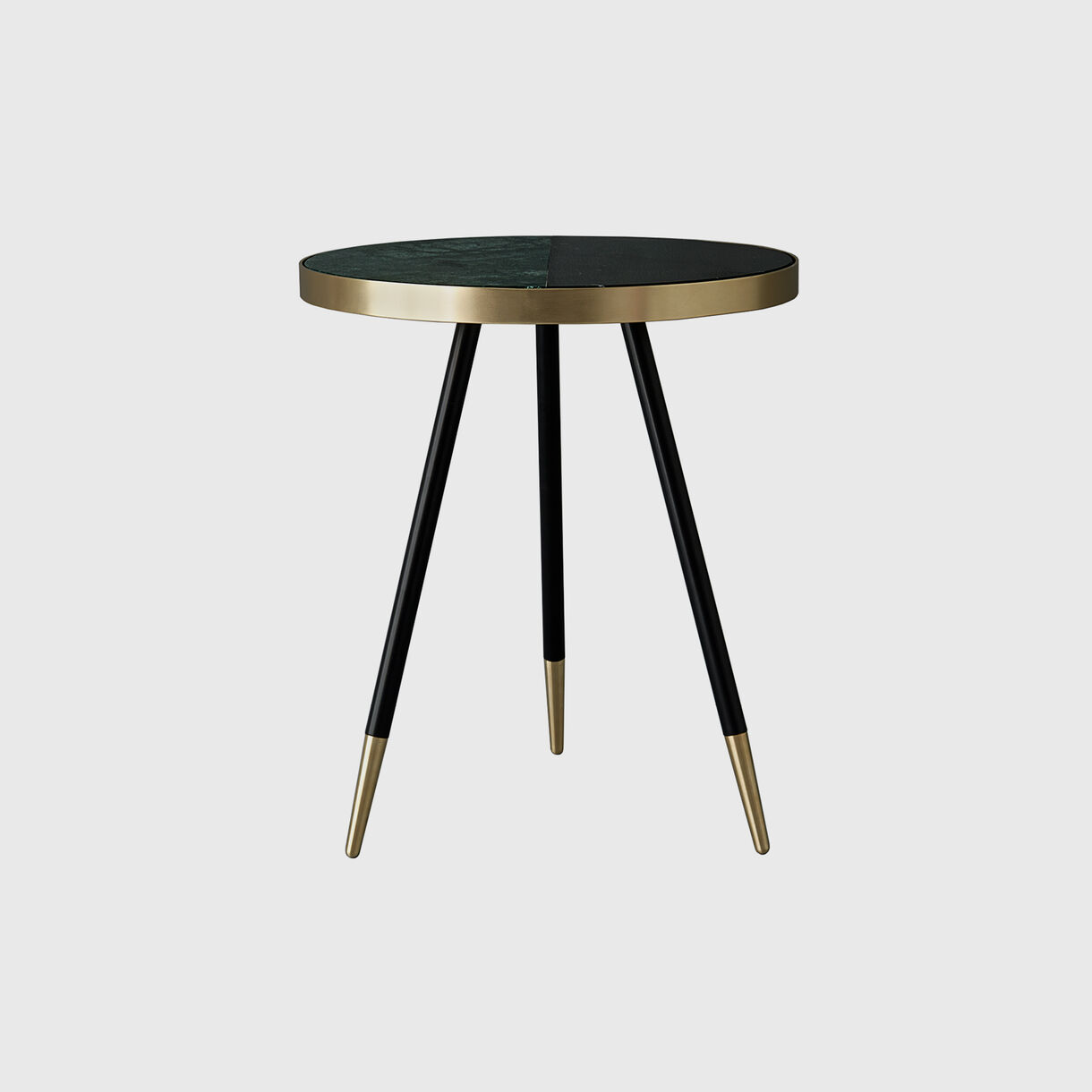 Band Two-Tone Side Table, Verde & Nero
