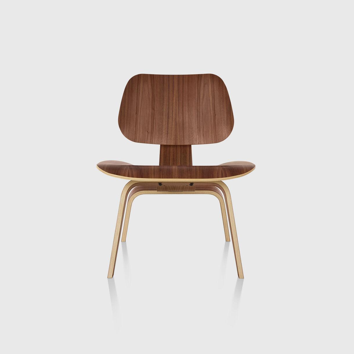 Eames Moulded Plywood Lounge Chair, Wood Base, Santos Palisander