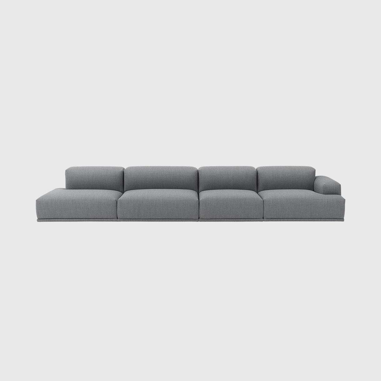 Connect Modular Sofa, 4 Seater, Fiord 151