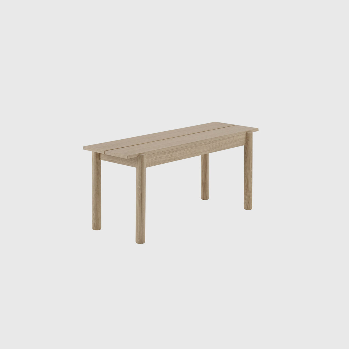 Linear Wood Bench, Short