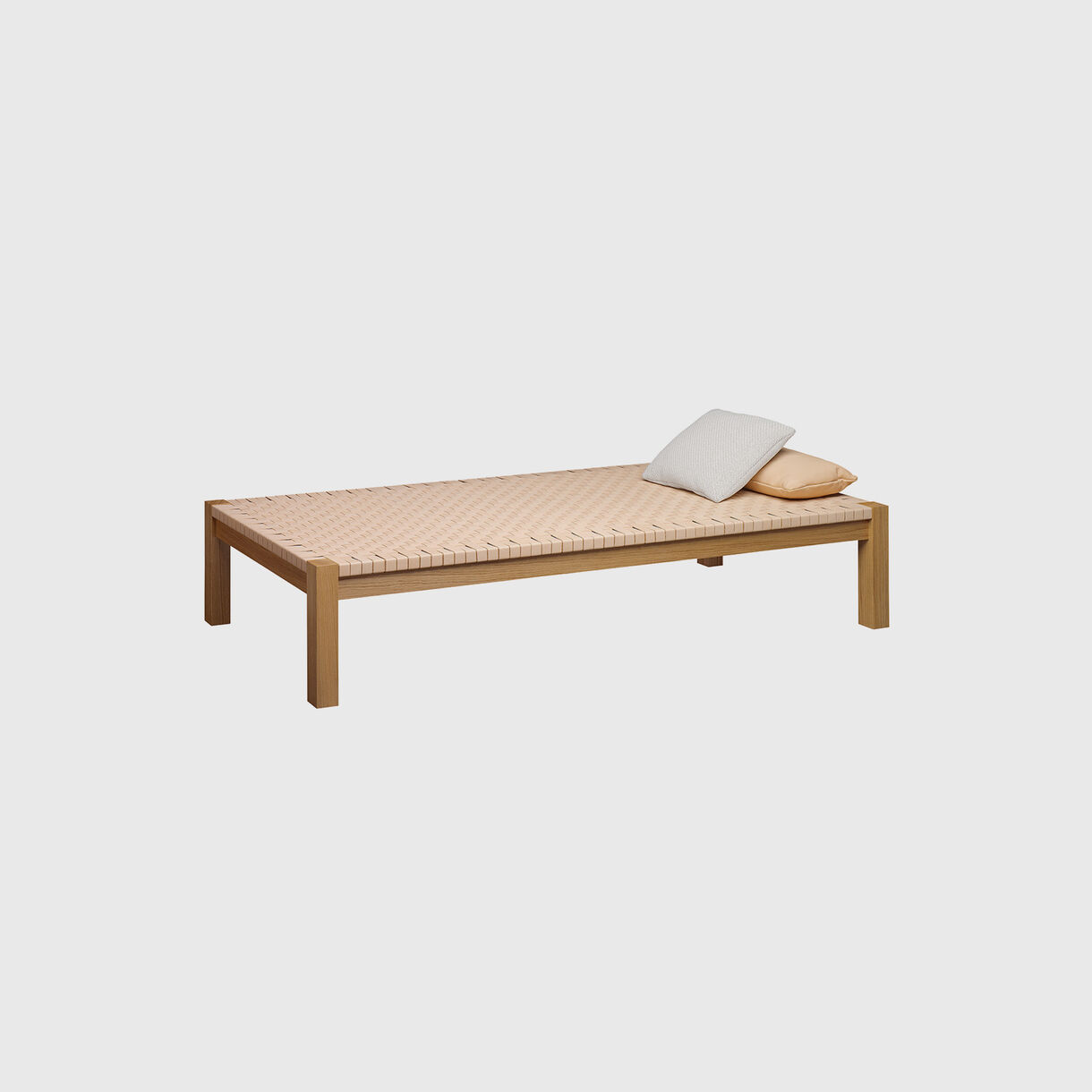 Theban Daybed, Oak & Natural Leather