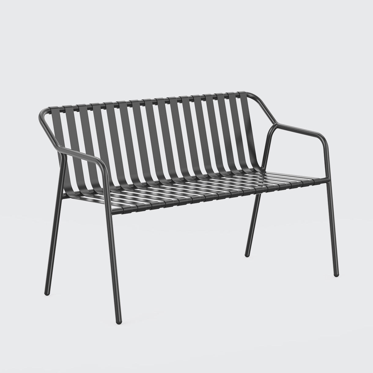 Strap 2 Seater Armchair, Black