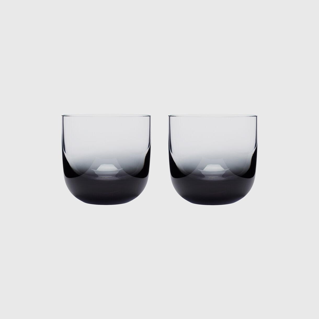 Tank Whiskey Glasses, Black