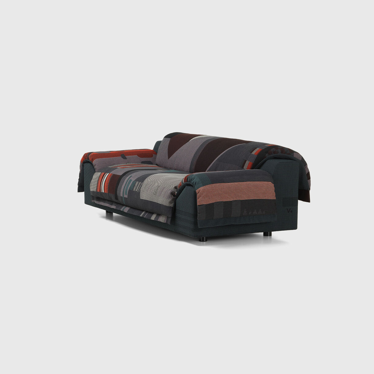 Vlinder Sofa, Dark Reds