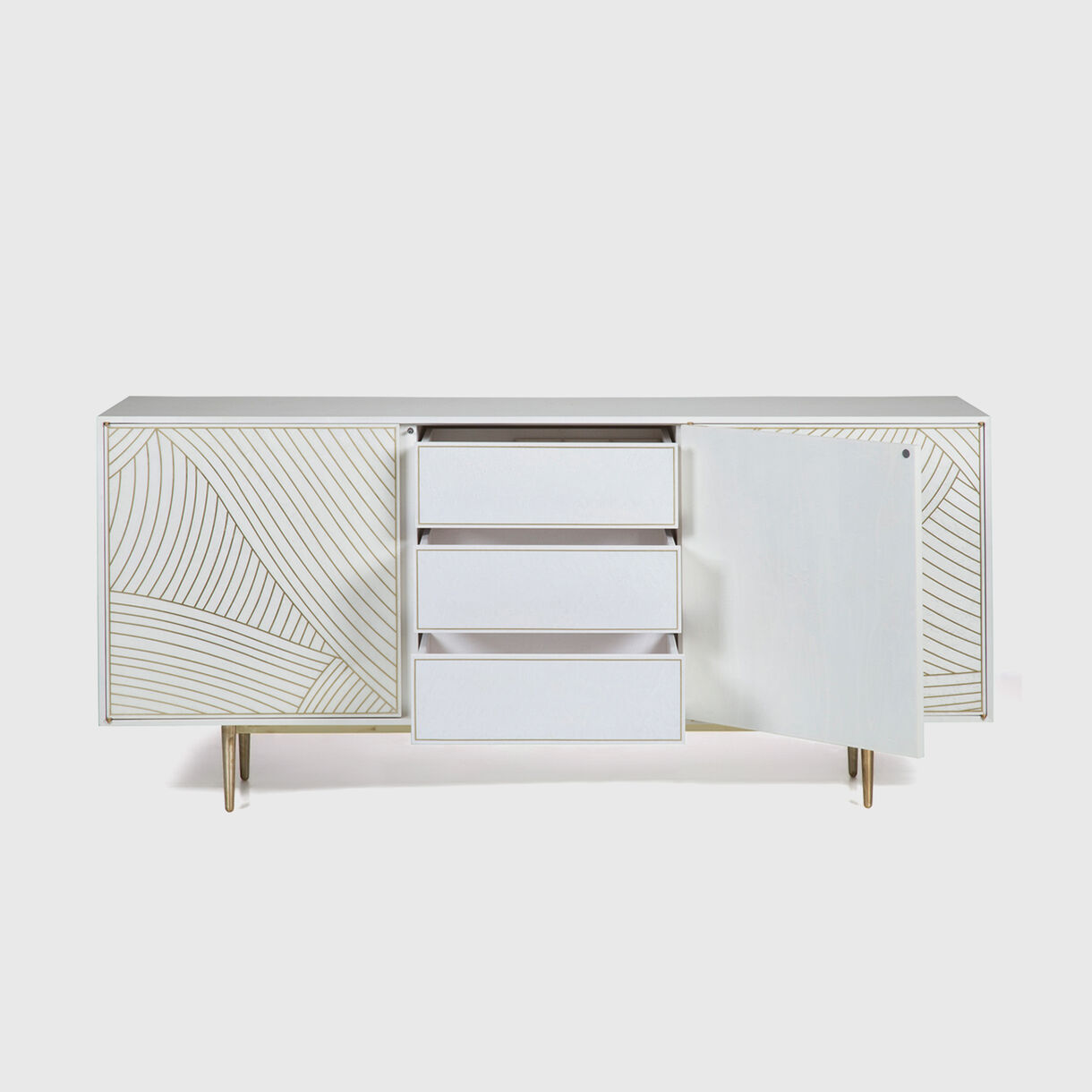 3-Door Dhow Cabinet in White