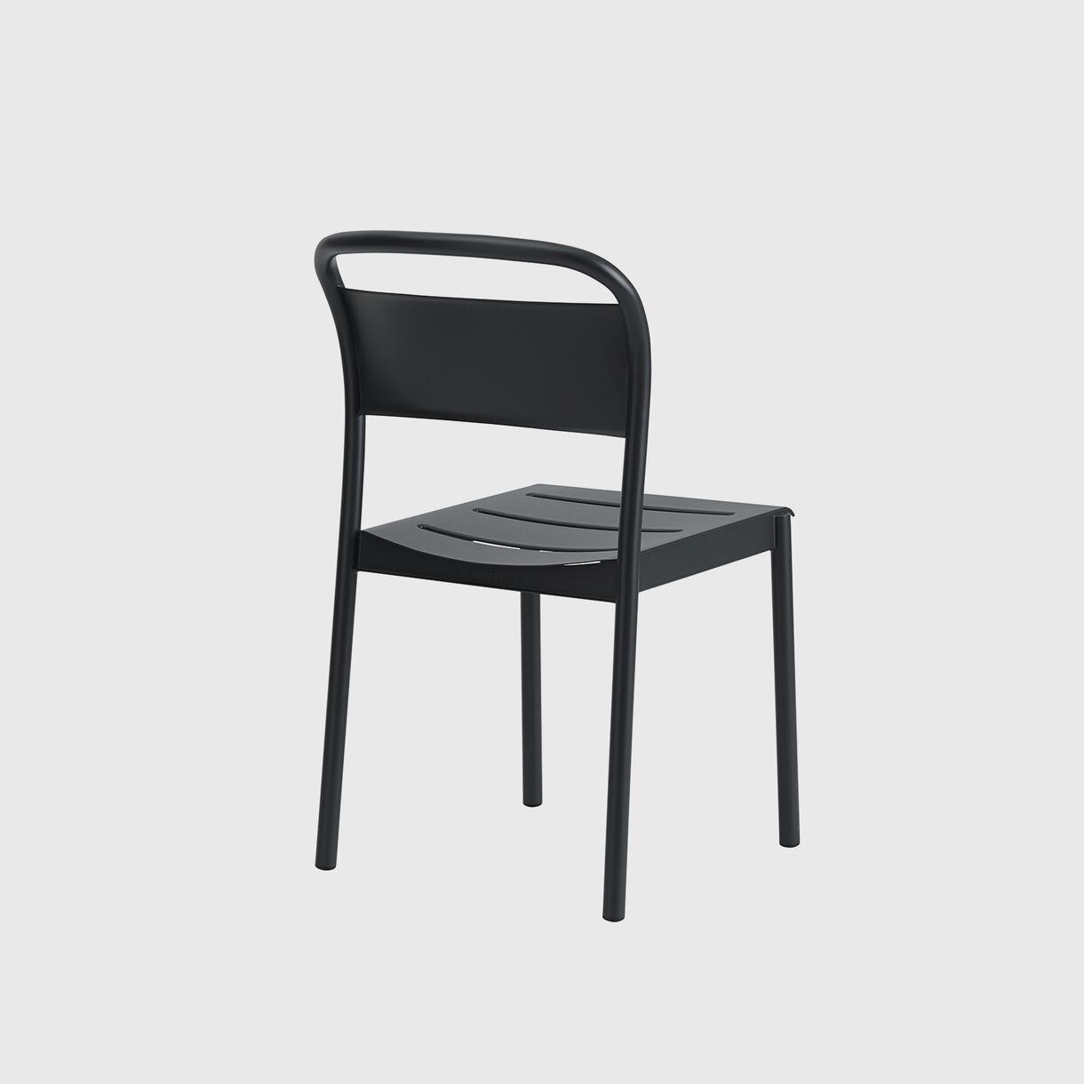 Linear Steel Side Chair, Black