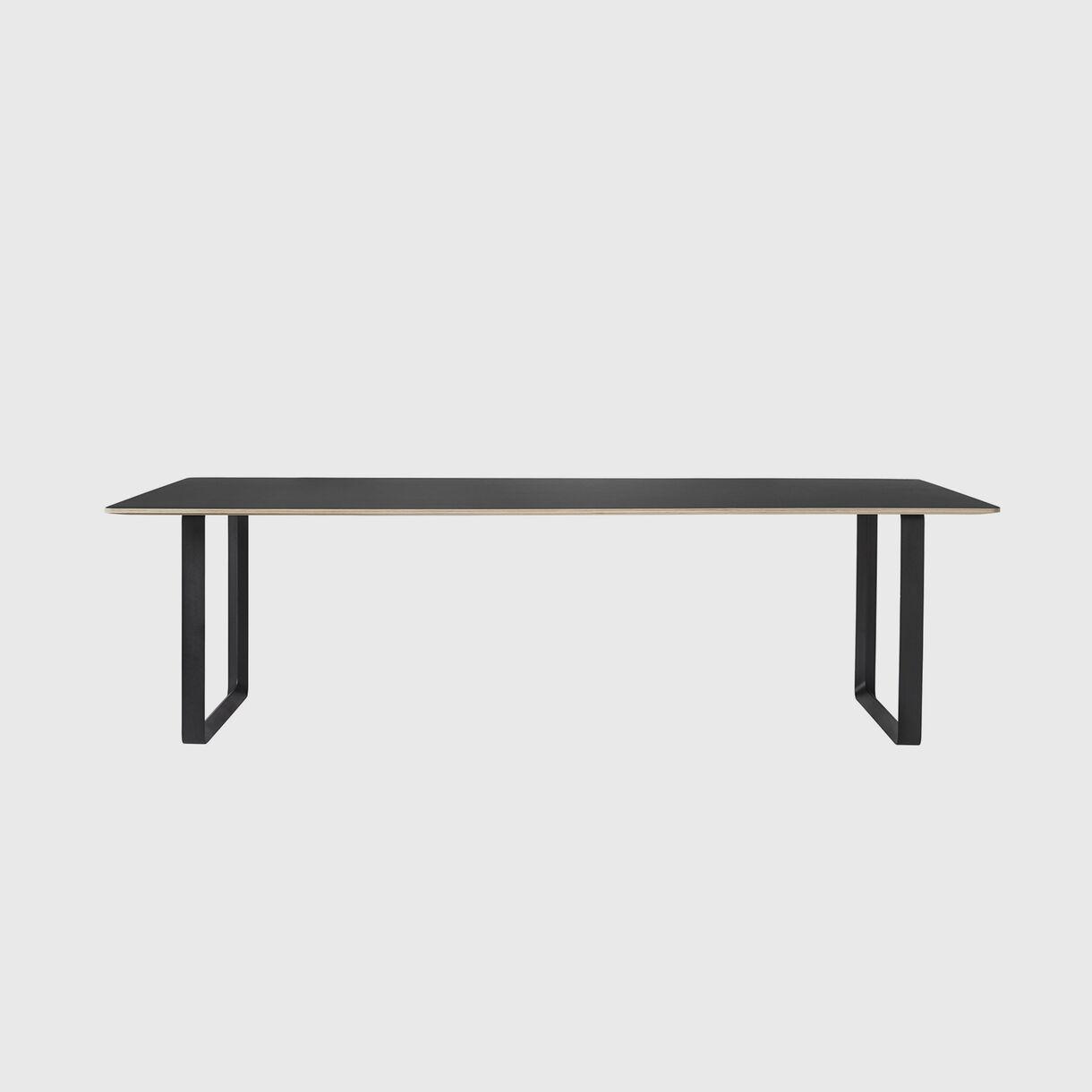 70/70 Table, 2550 x 1080, Black