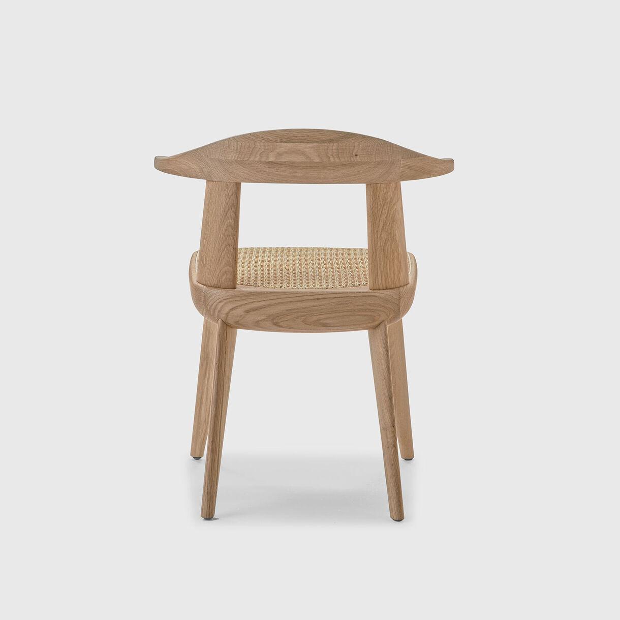 Brutus Armchair, Oak & Vienna Cane