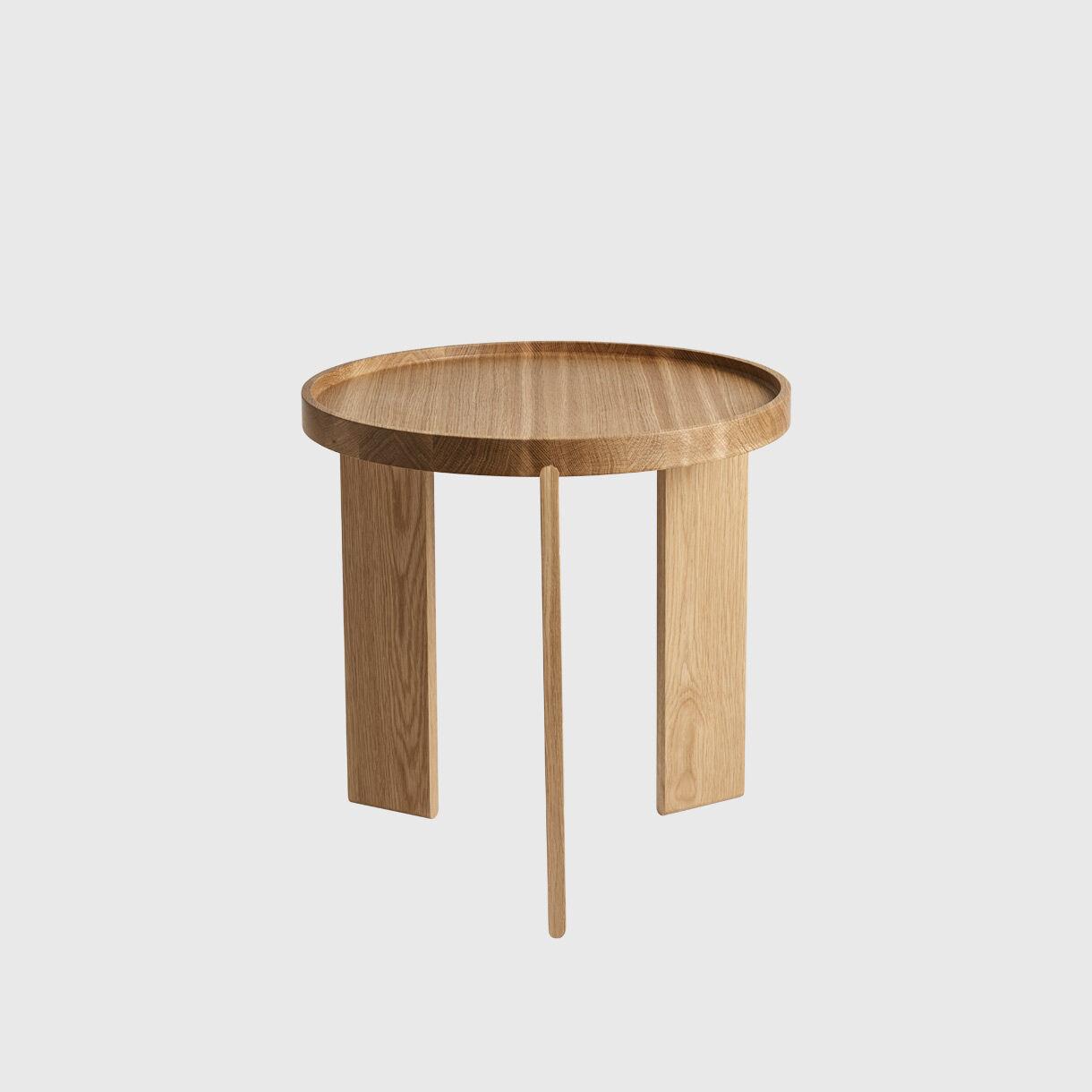 Blade Side Tables & Tray Set, American Oak