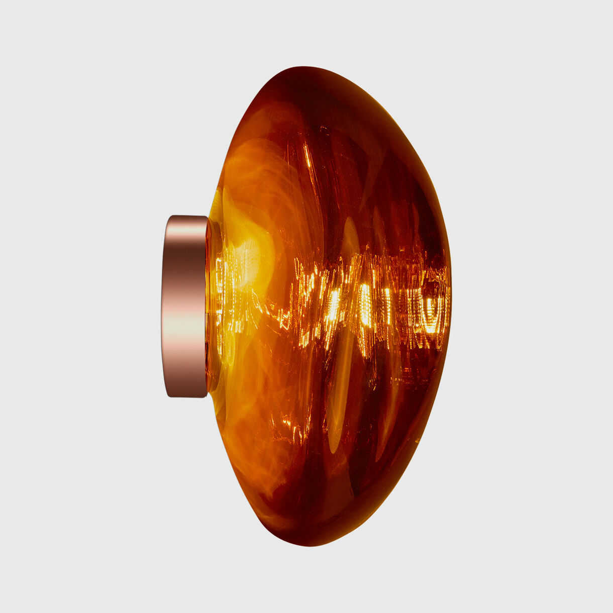 Melt Surface LED, Copper, On