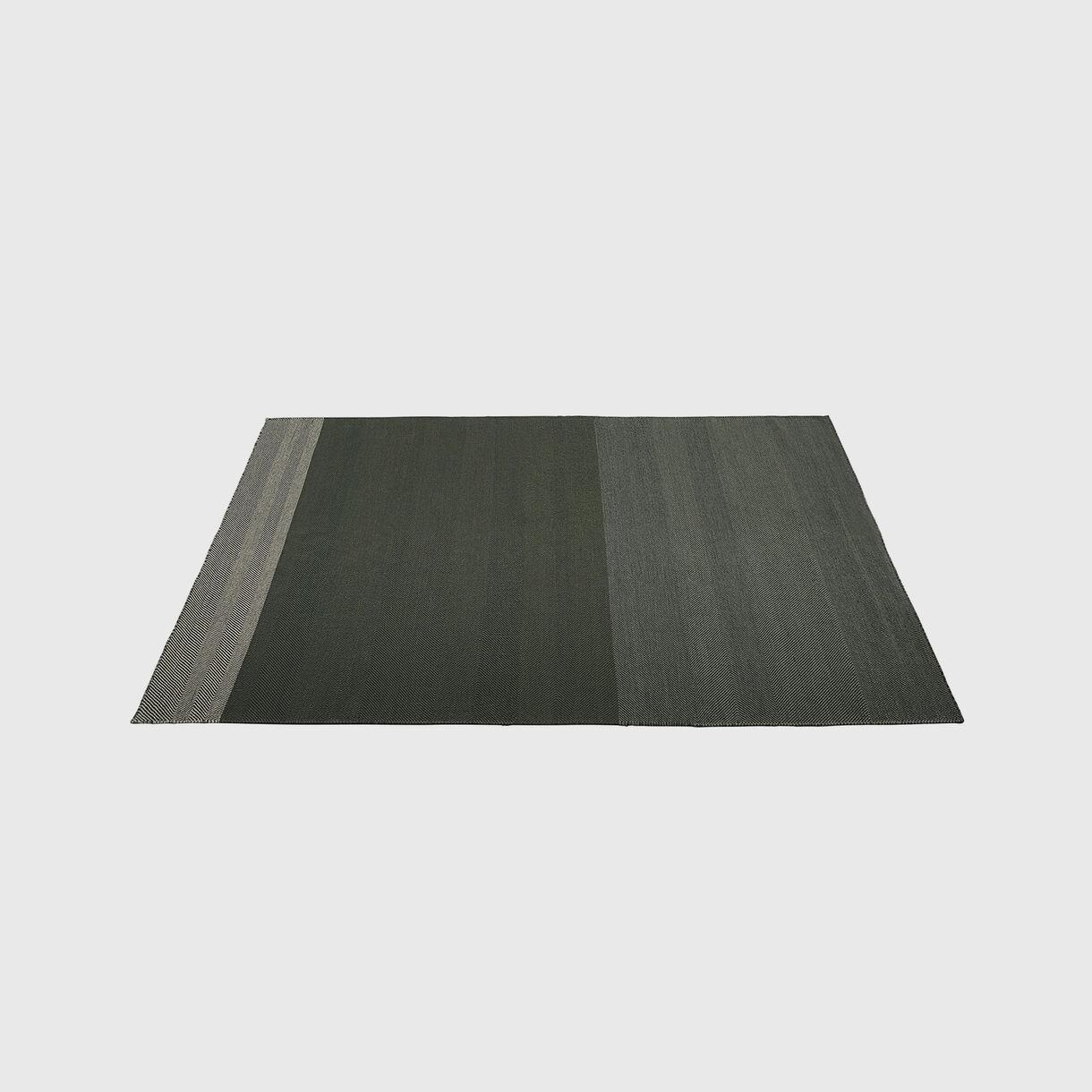 Varjo Rug 200x300cm, Dark Green