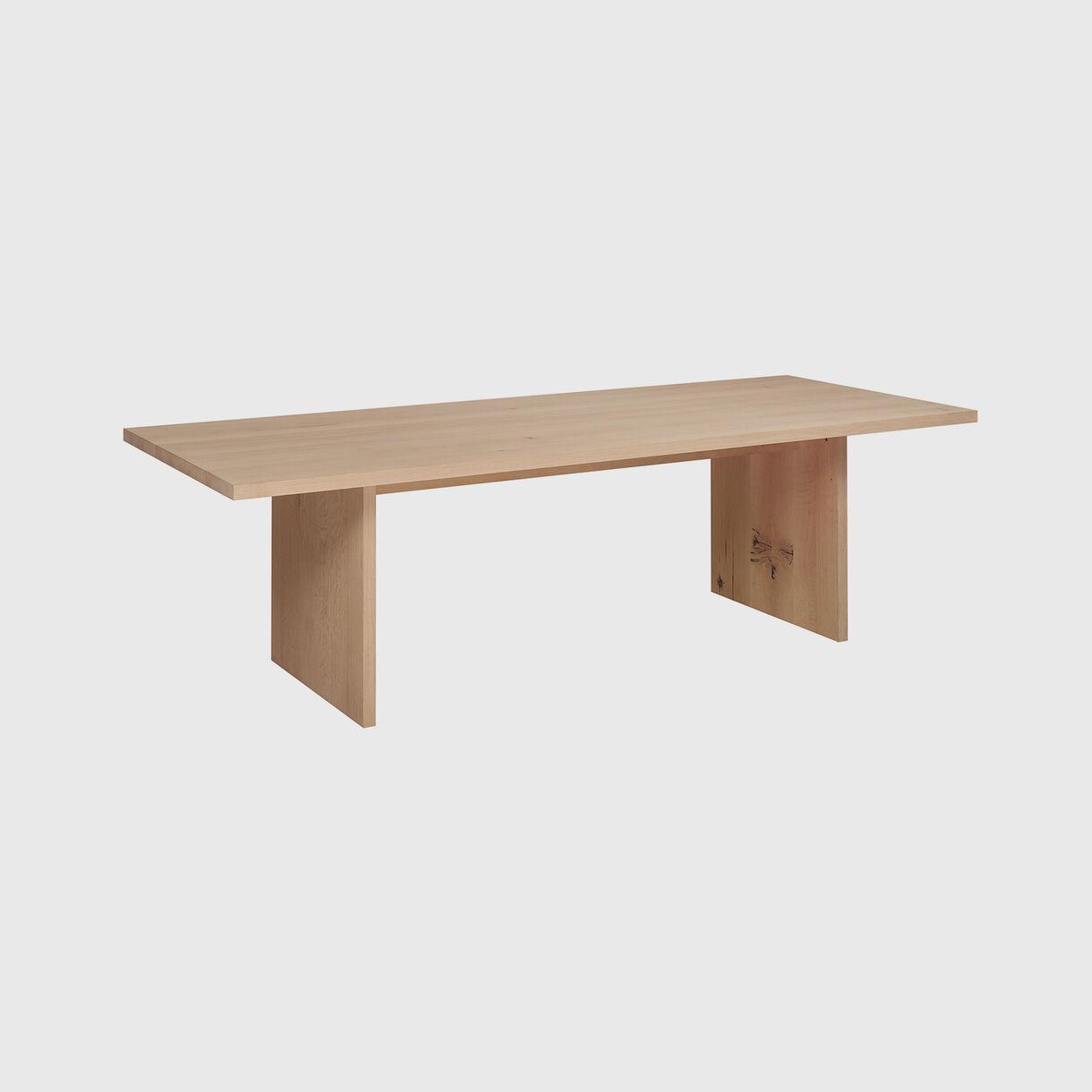 Ashida Table, European Oak White Pigment Waxed