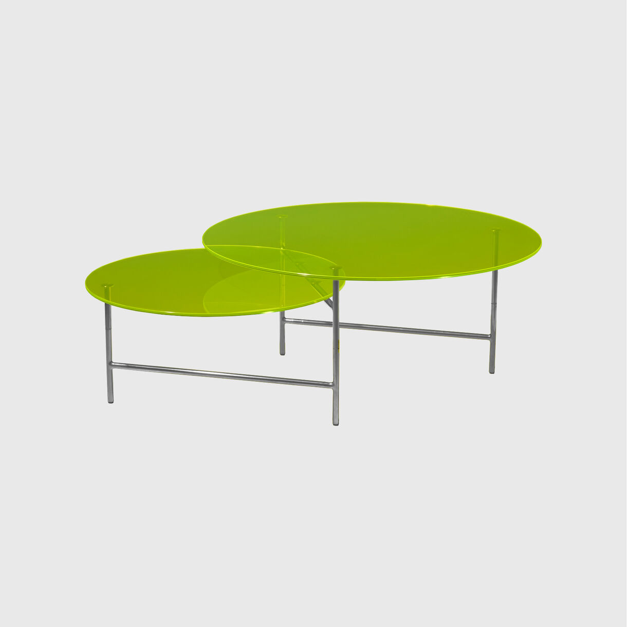 Zorro Coffee Table, Yellow Glass