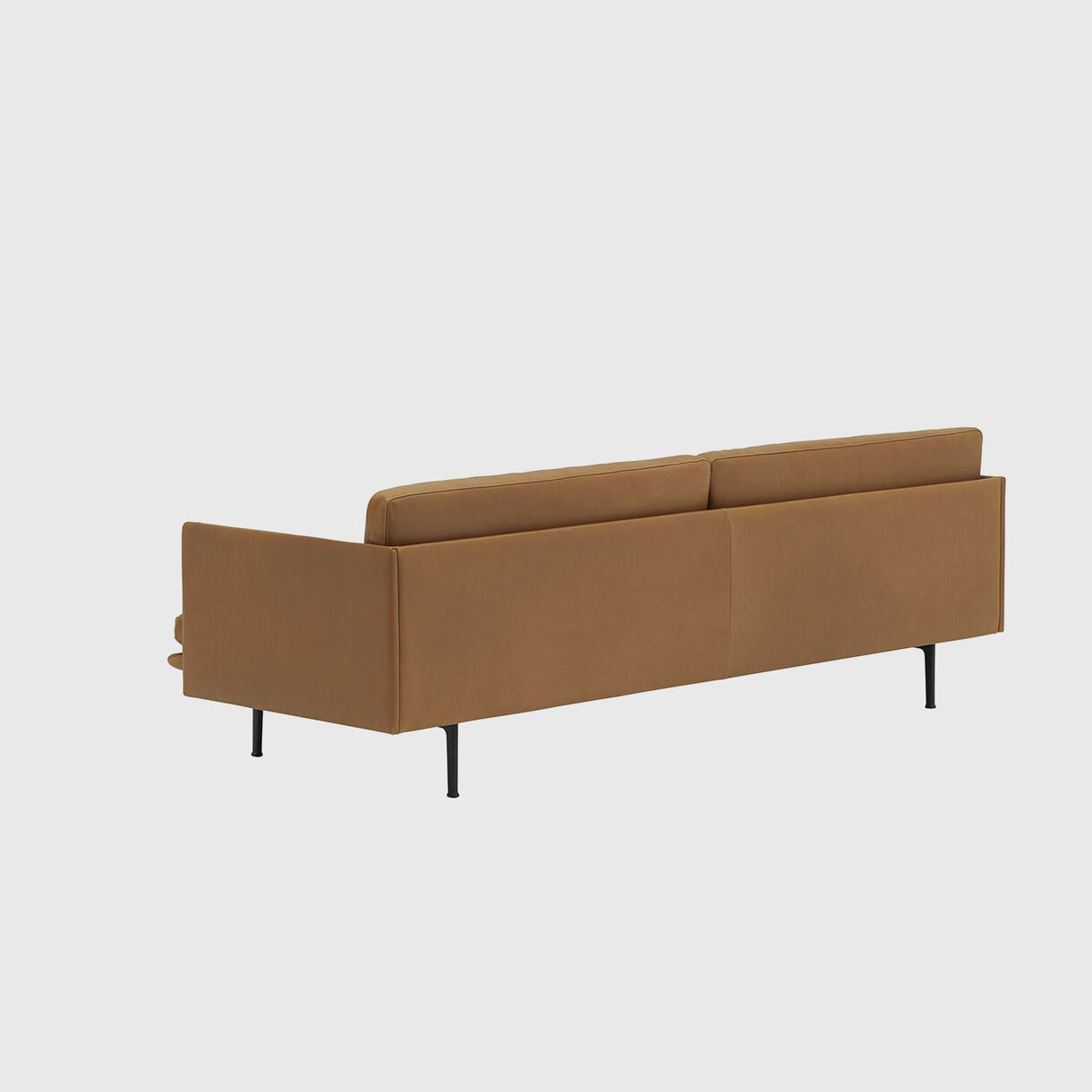 Outline 3 Seater Sofa, Cognac Leather