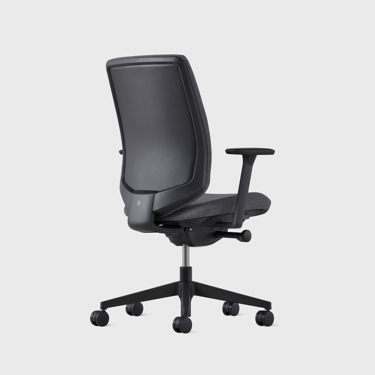 Verus Upholstered Back Task Chair - Black Frame & Bayou Upholstery - Fully Adjustable Arms