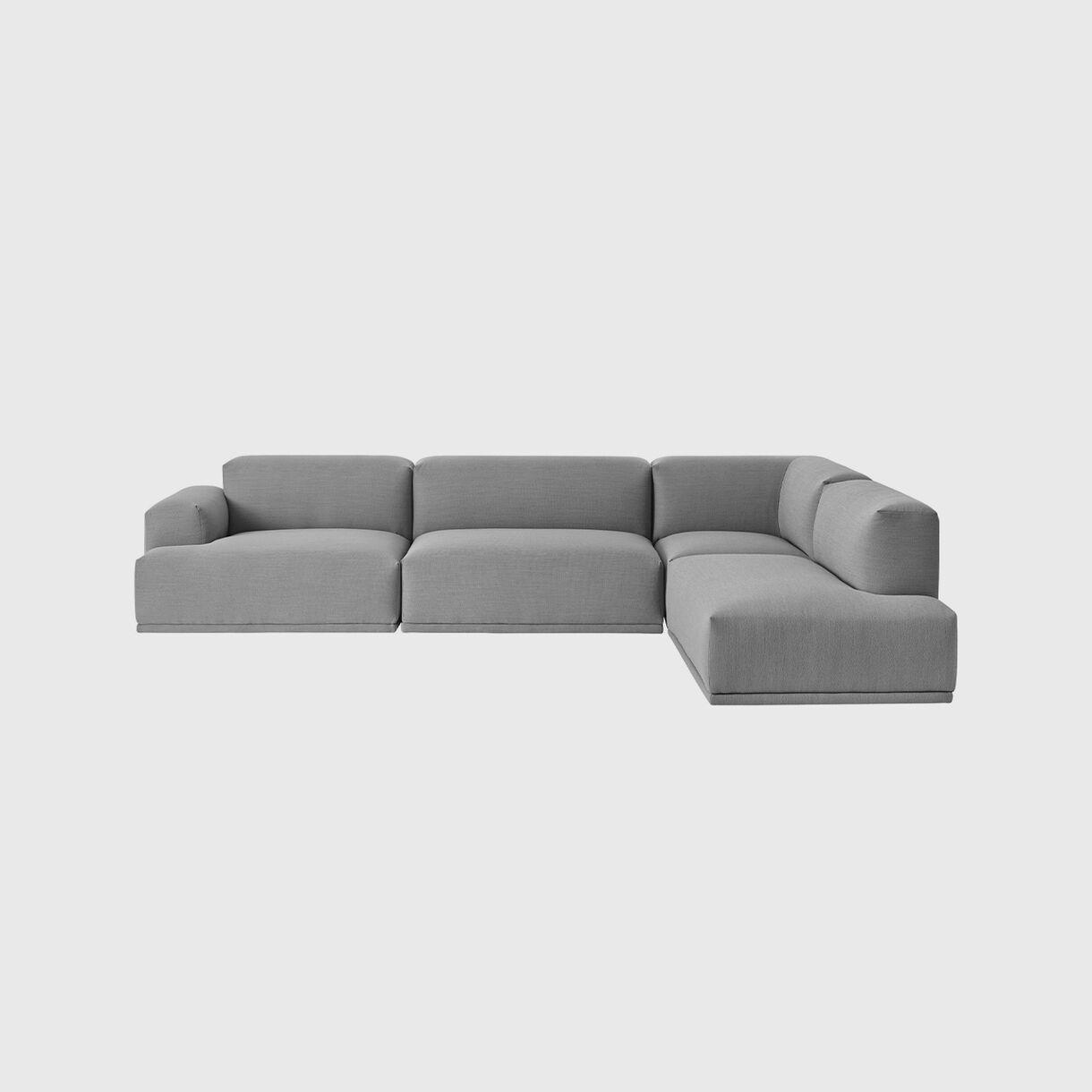 Connect Modular Corner Sofa, Steelcut Trio 133