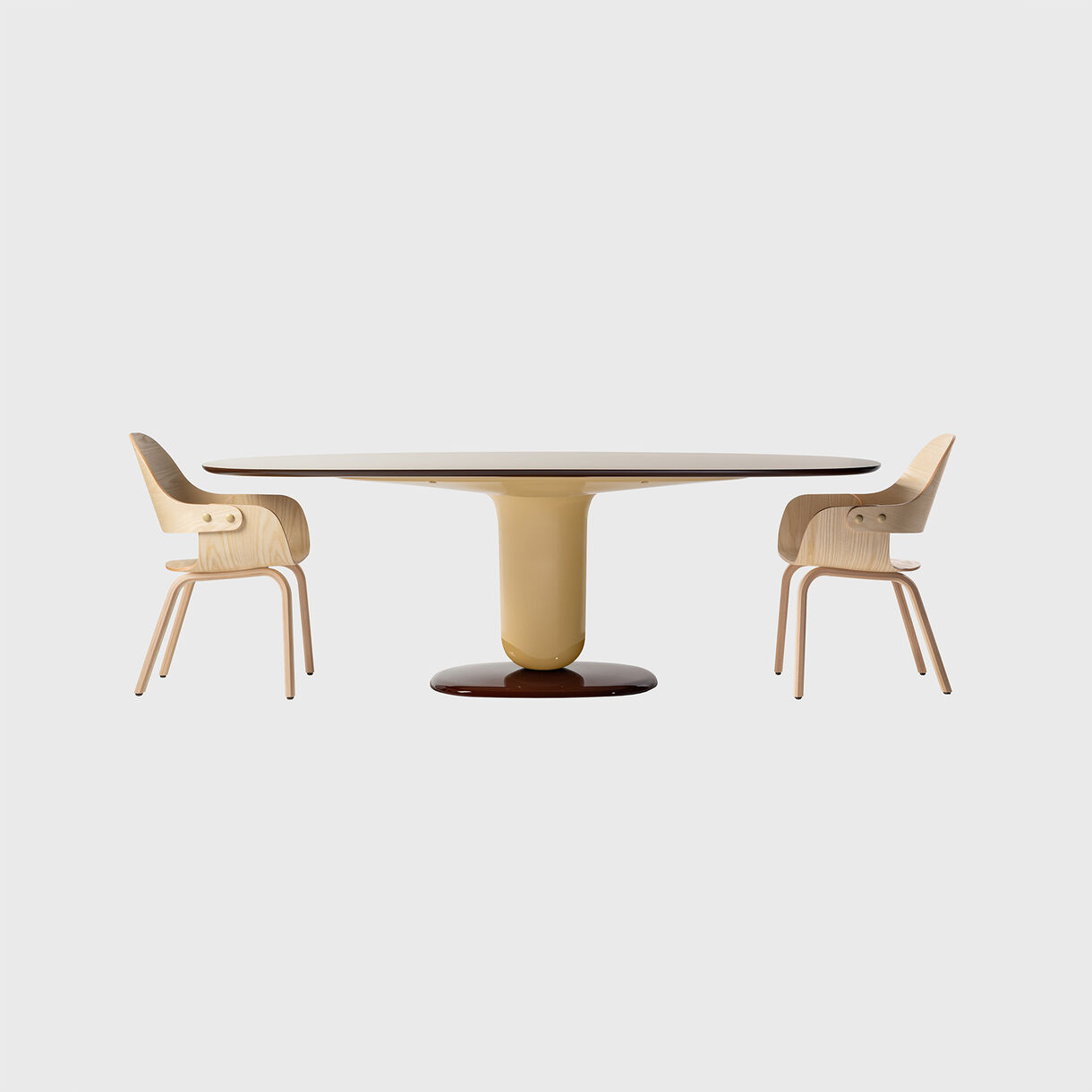 Explorer 5 Dining Table, Multicolour Beige