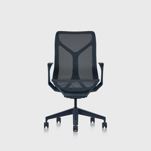Cosm Chair, Nightfall, Mid Back, Fixed Arms