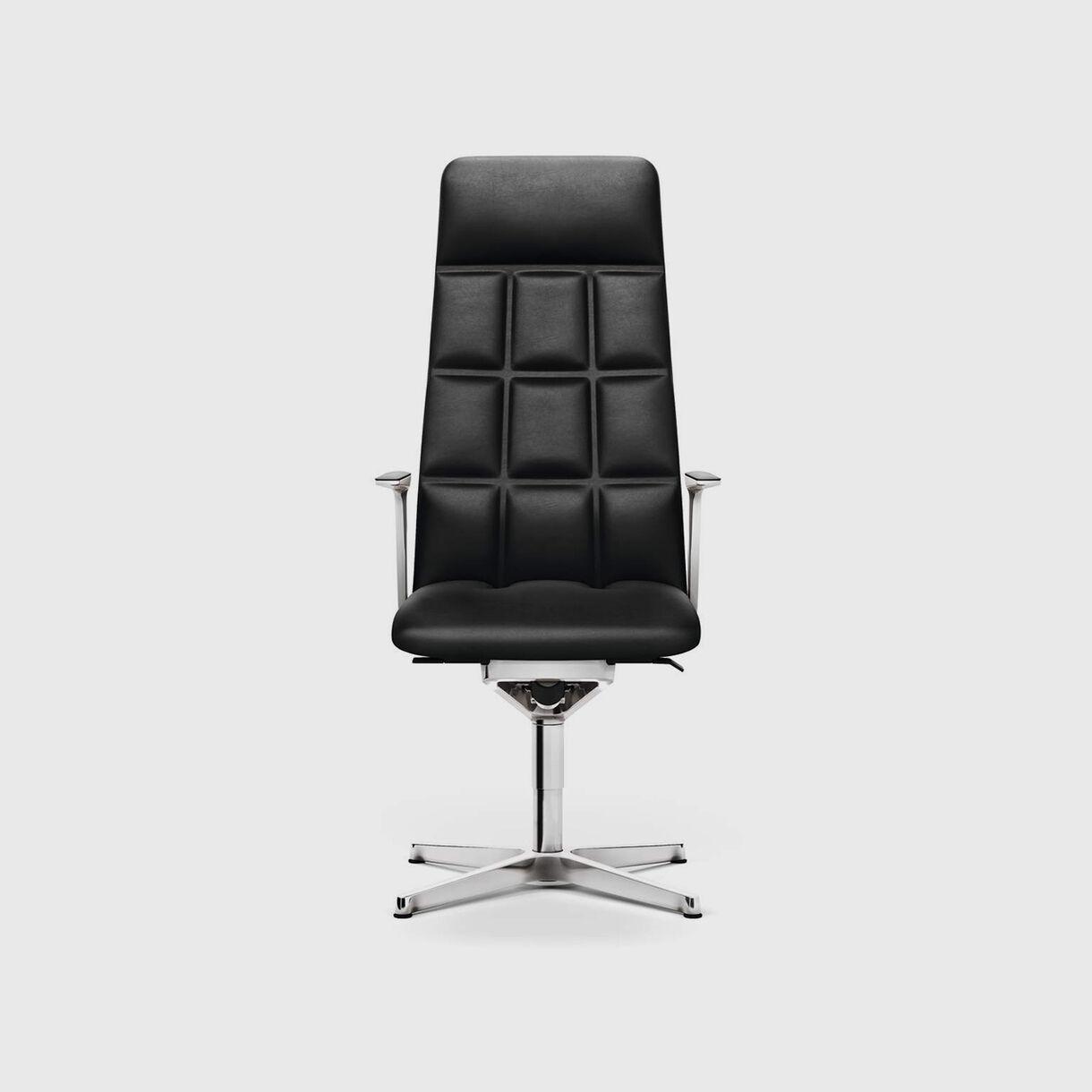 Leadchair Management, High Back, Black