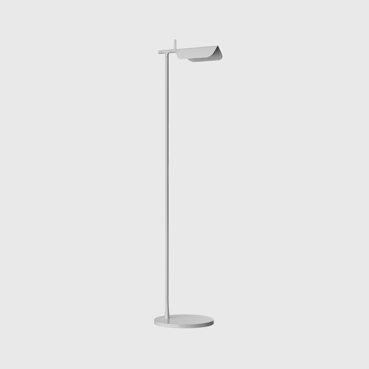 Tab Floor Lamp, White, Off