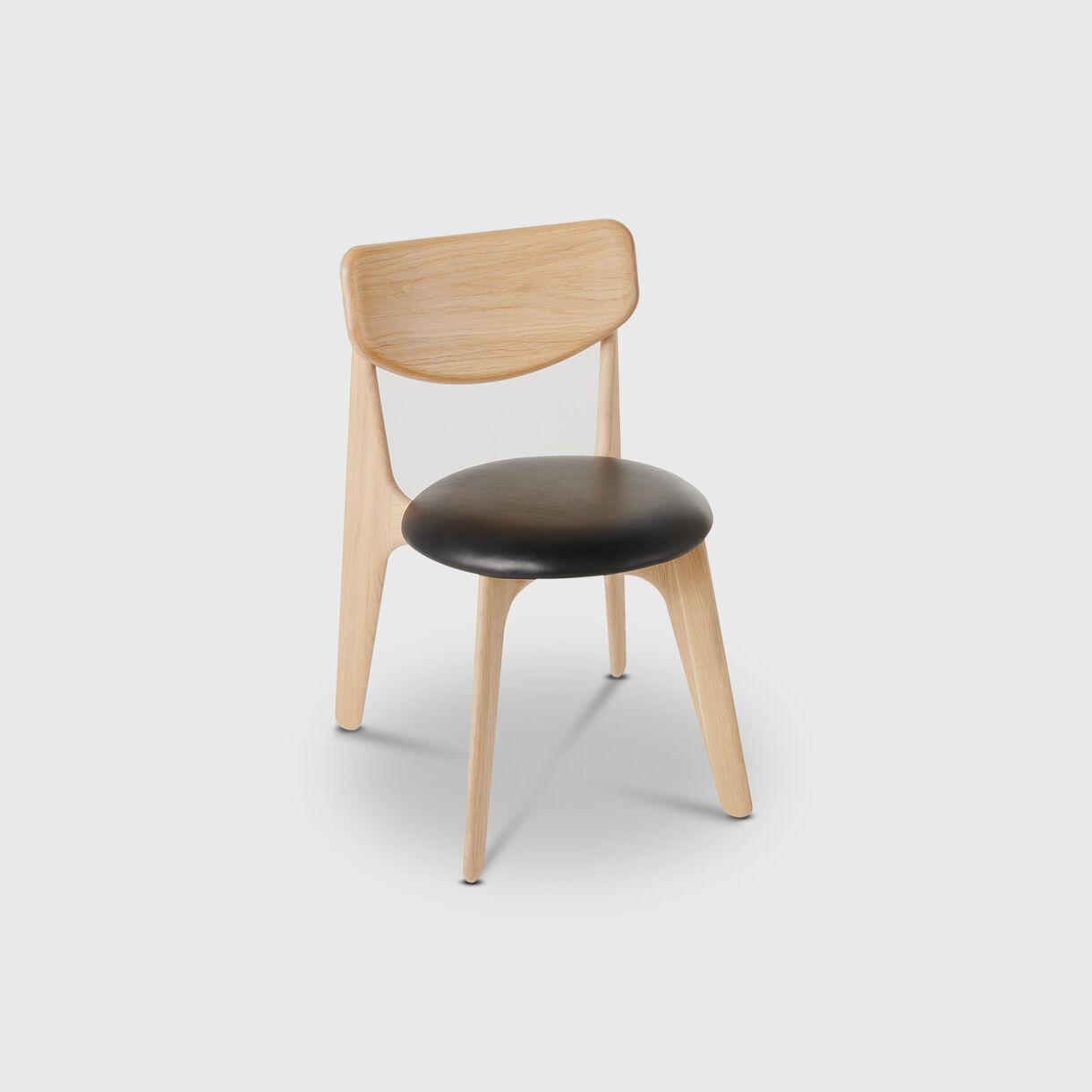 Slab Side Chair, Natural Oak, Upholstered