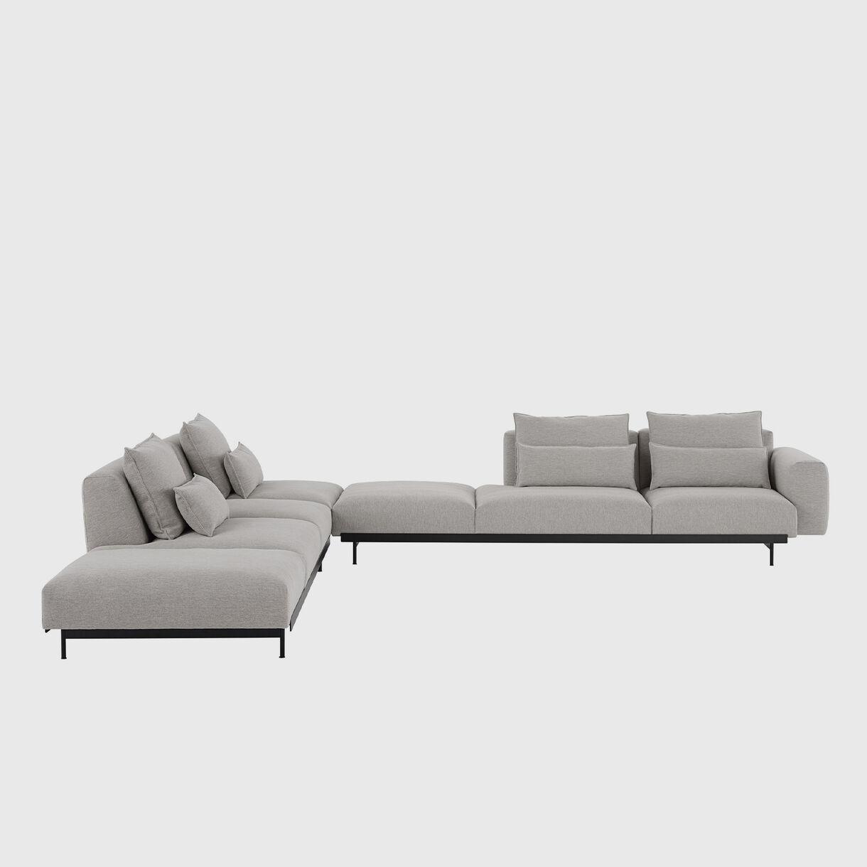 In Situ Modular Sofa - Corner Configuration 9, Clay 12