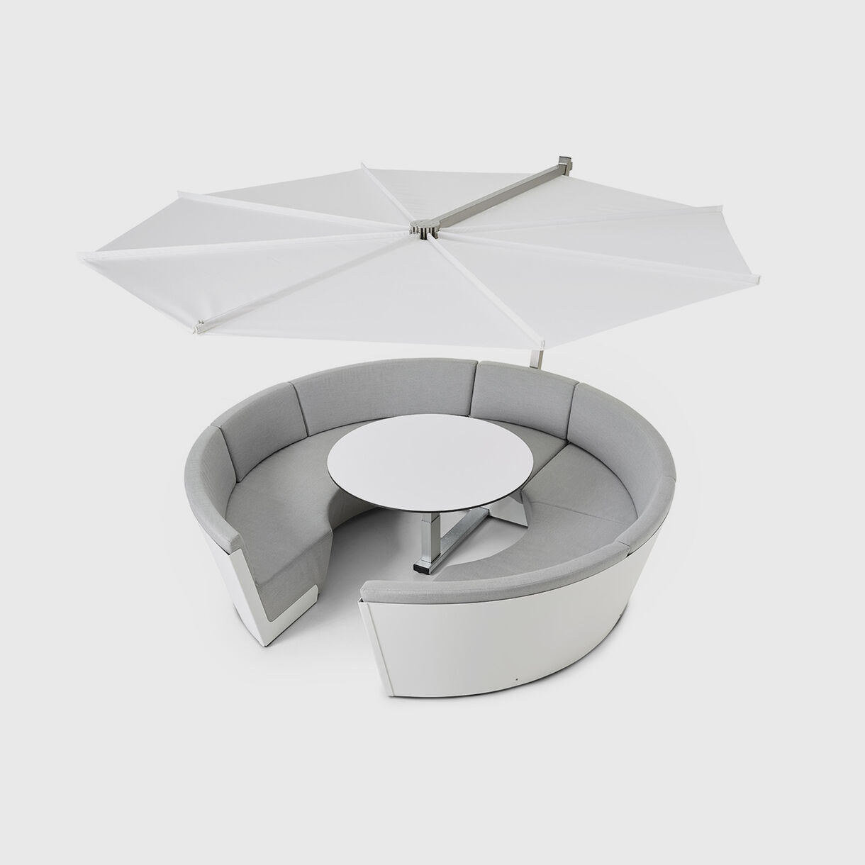 Kosmos Outdoor Lounge, 8 Seater with Parasol