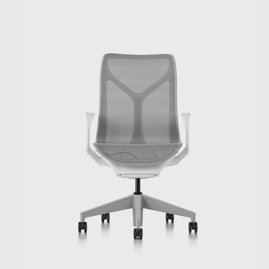 Cosm Chair, Mineral, Mid Back, Fixed Arms