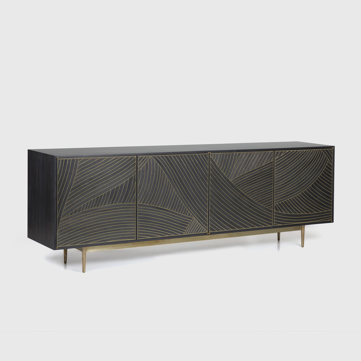 4-Door Dhow Cabinet in Charcoal