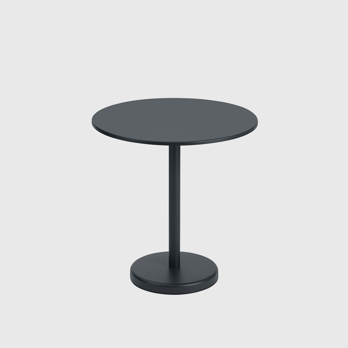Linear Steel Round Cafe Table, Black