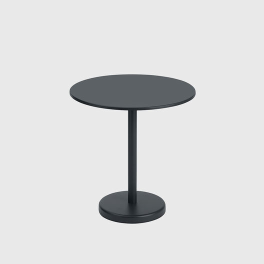 Linear Steel Round Cafe Table