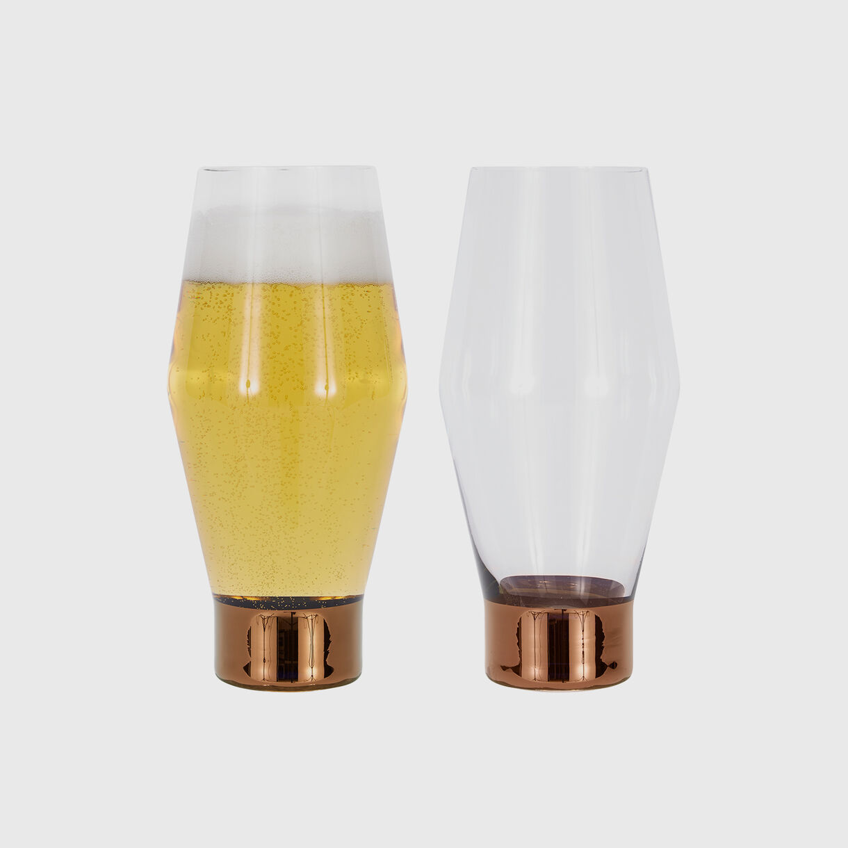 Tank Beer Glasses, Copper