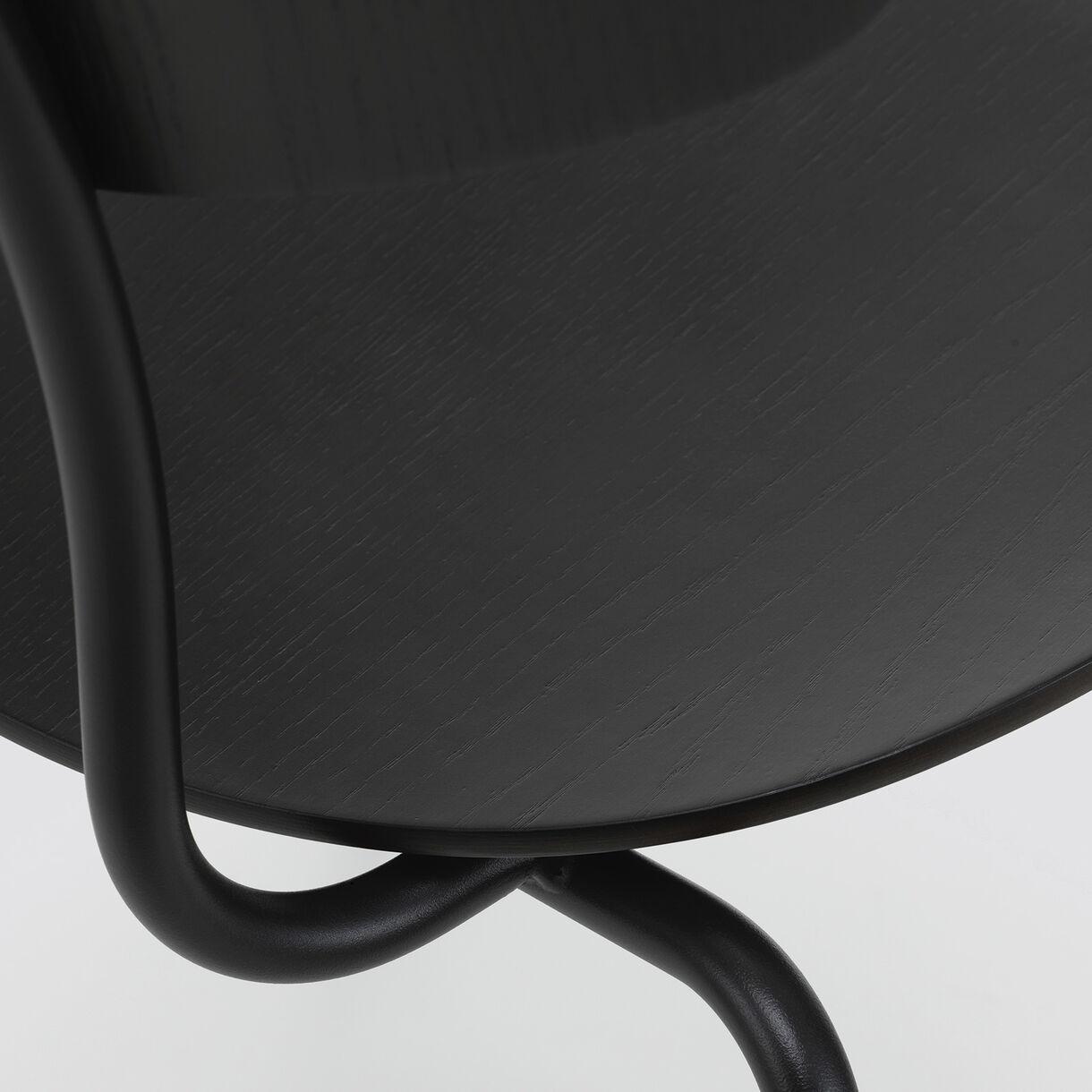 Moca Chair, Dark Oak & Basic Dark