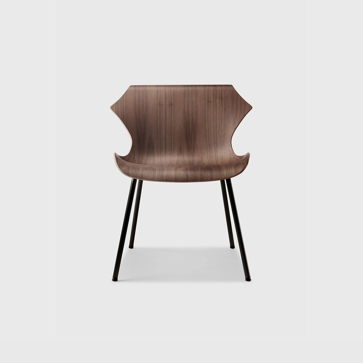 Petal Lounge Chair, Walnut